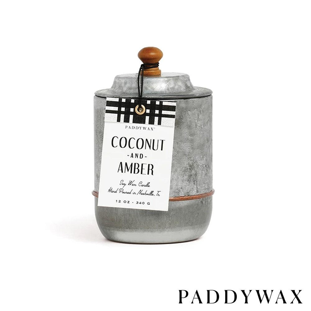 PADDYWAX 美國香氛 Homestead系列 香氛蠟燭 Coconut & Amber 椰子琥珀 340g