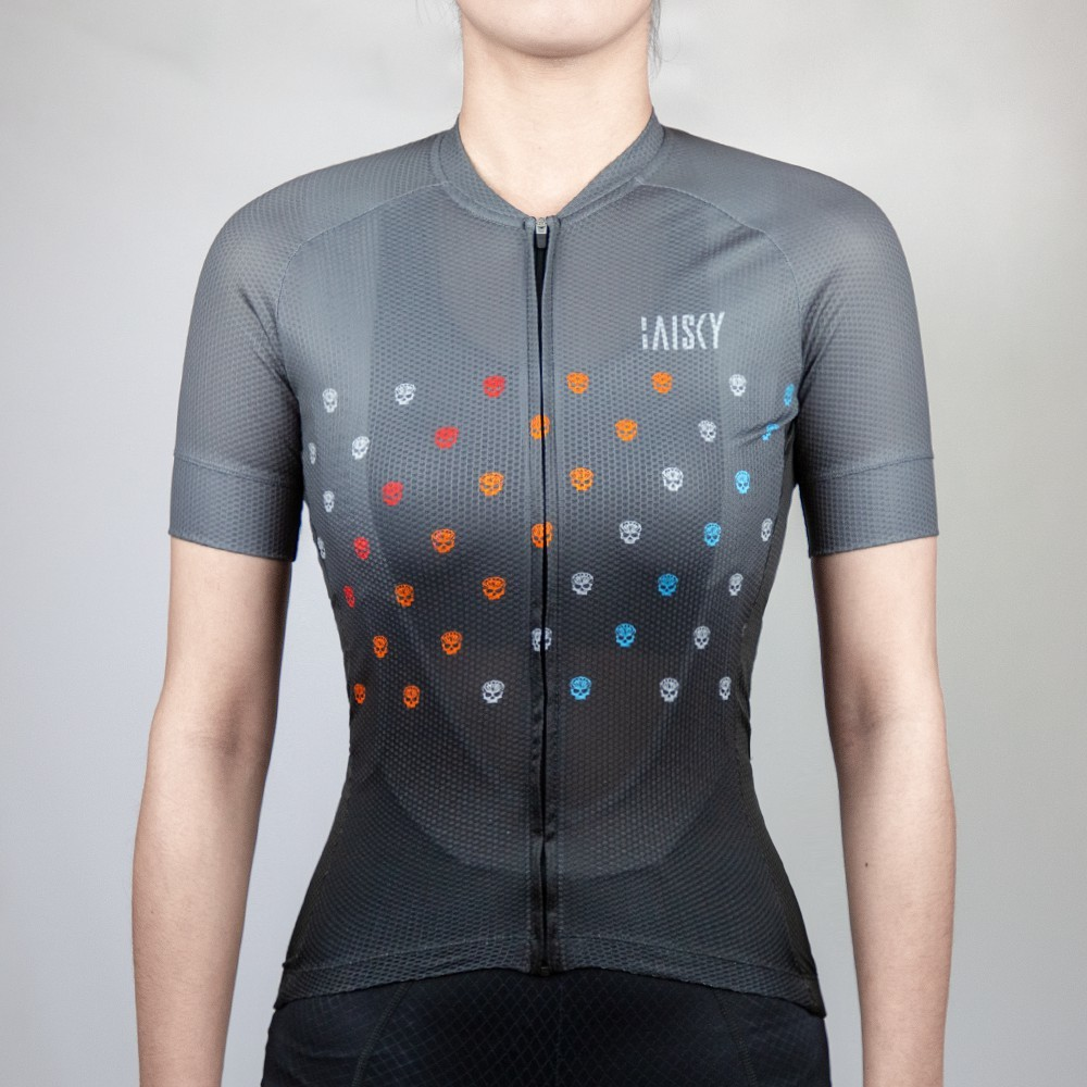 紀錄單車 女款短車衣 騎士 黑灰 自行車上衣