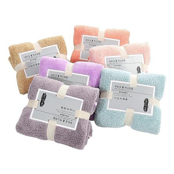 珊瑚絨禮品毛巾 76x35cm 一入 顏色隨機【YES 美妝】