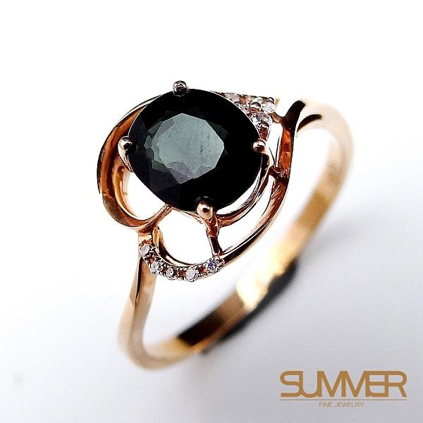 SUMMER寶石 天然碧璽18K金戒指 1.2ct(KG-22)