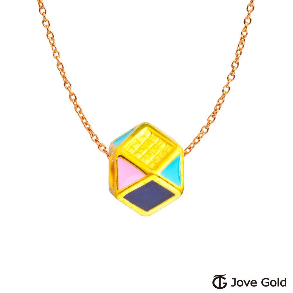 Jove Gold 漾金飾 彩繪夢想黃金墜子 送項鍊