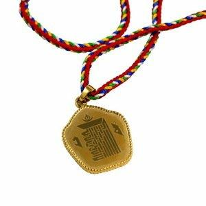【藏傳佛教文物】時輪金剛咒牌(柒金)-鋼合金精工項鍊 吊墜 護身符(PB-N00014)