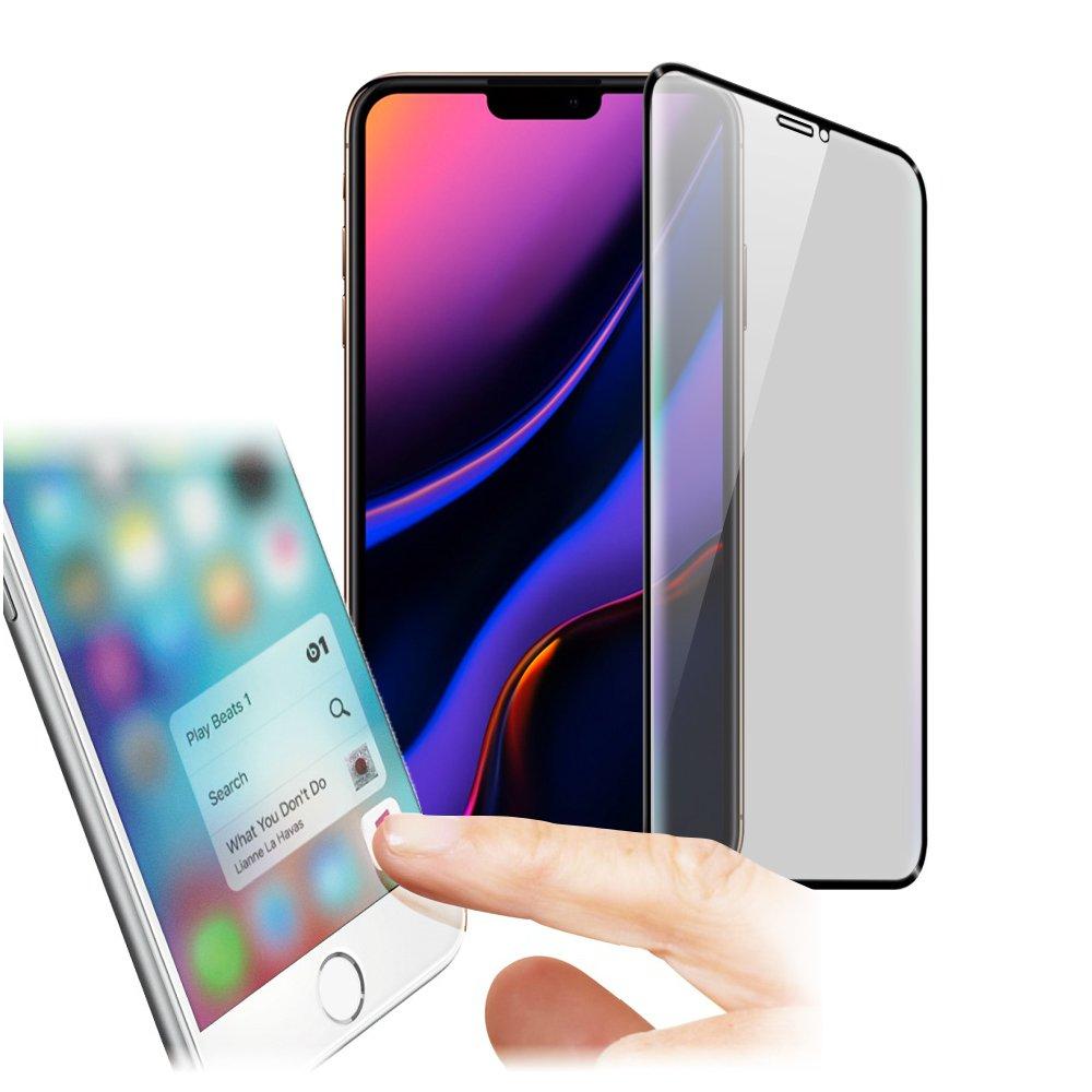 Xmart for iPhone 11 Pro Max 6.5吋 防指紋0.33mm霧面滿版玻璃保護貼-黑色