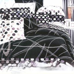 [幸福的樂章]台灣製造(6.0呎x6.2呎)四件式雙人加大(純棉)被套床包組-沈黑色[台灣製造]