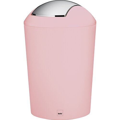 《KELA》搖擺蓋垃圾桶(粉1.7L)