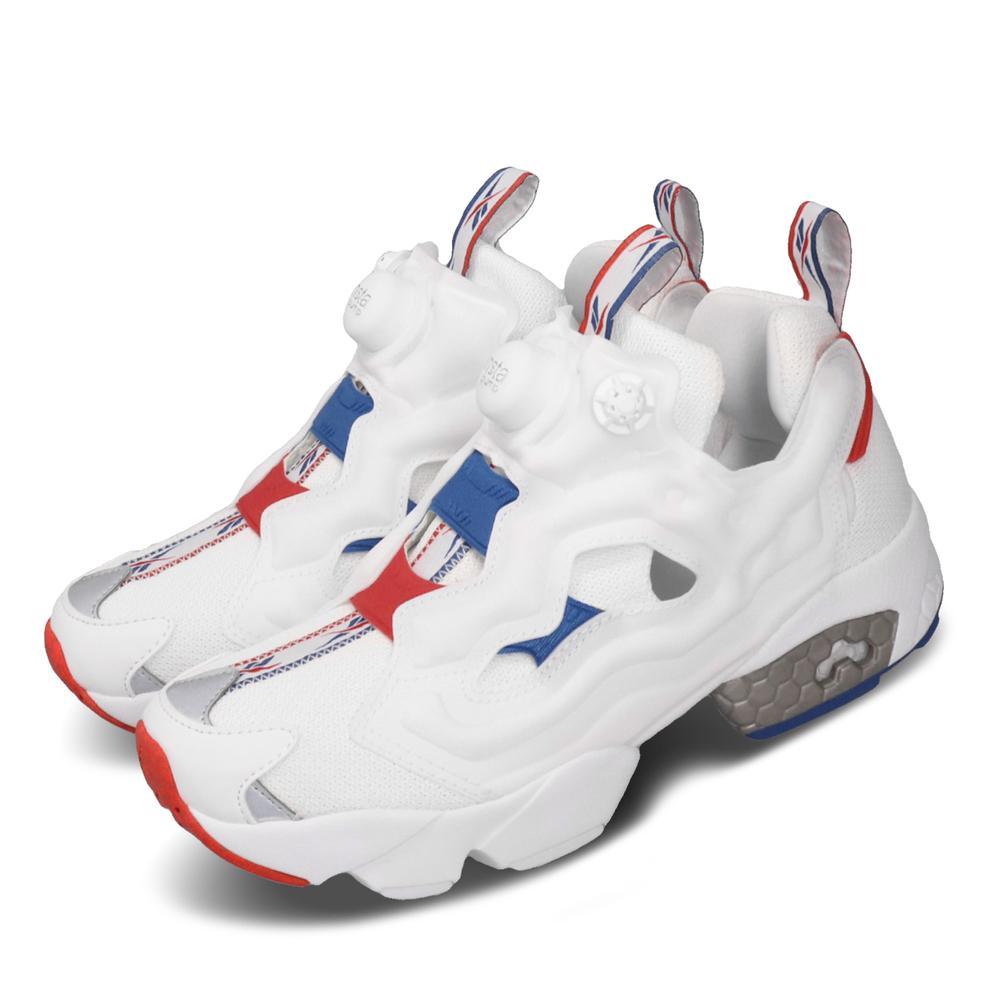 REEBOK 休閒鞋 Instapump Fury 運動 女鞋 經典款 襪套 充氣科技 舒適 穿搭 白 紅 [EF3143]