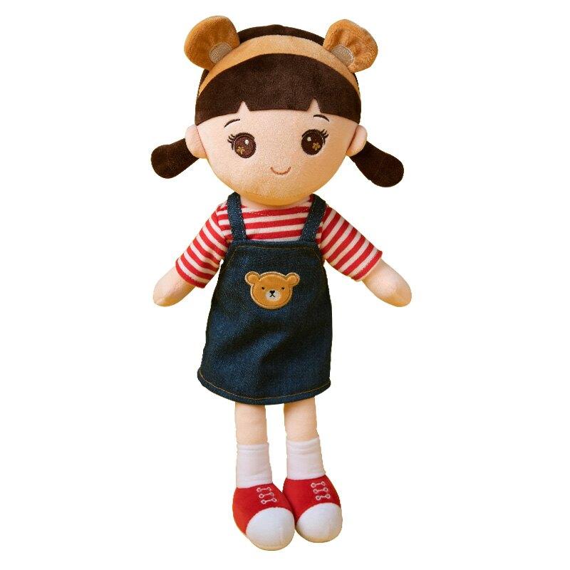 布娃娃男孩女孩公仔可愛睡覺抱毛絨玩具女生小熊洋娃娃兒童玩偶