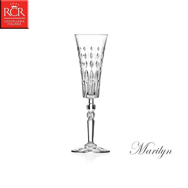 義大利RCR Marilyn 瑪莉蓮系列 水晶笛型香檳杯 170mL 甜酒杯 香檳杯 水晶玻璃 水晶高腳杯