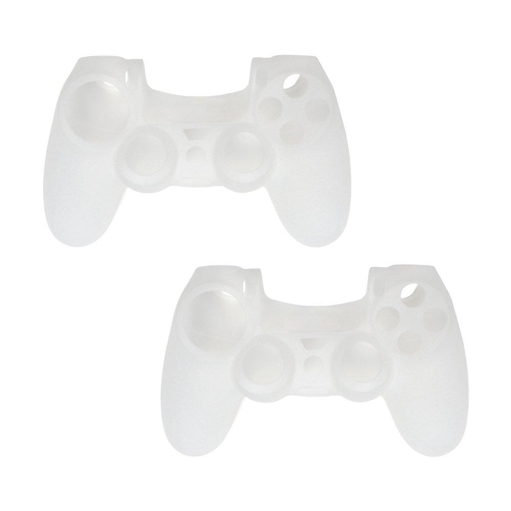 PS4 DUALSHOCK 4無線控制器專屬果凍套 - 二入組-白