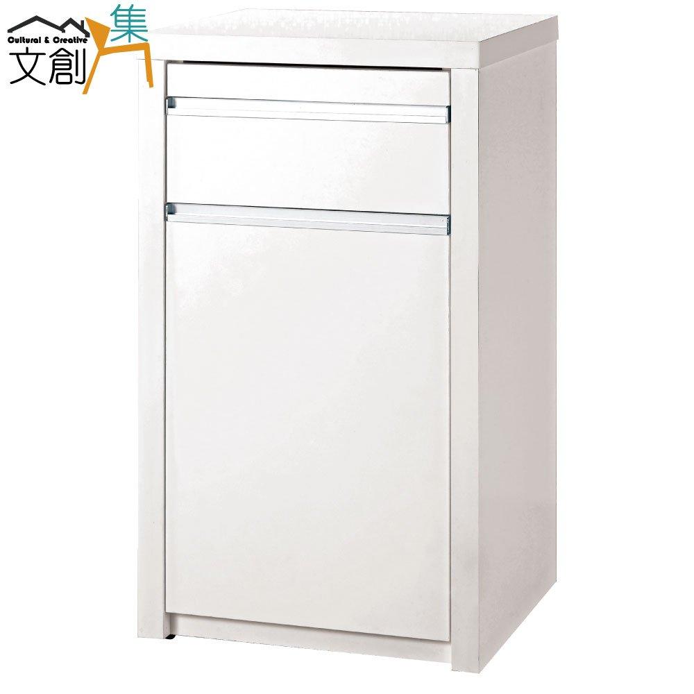 【文創集】羅加 時尚白1.5尺餐櫃/收納櫃