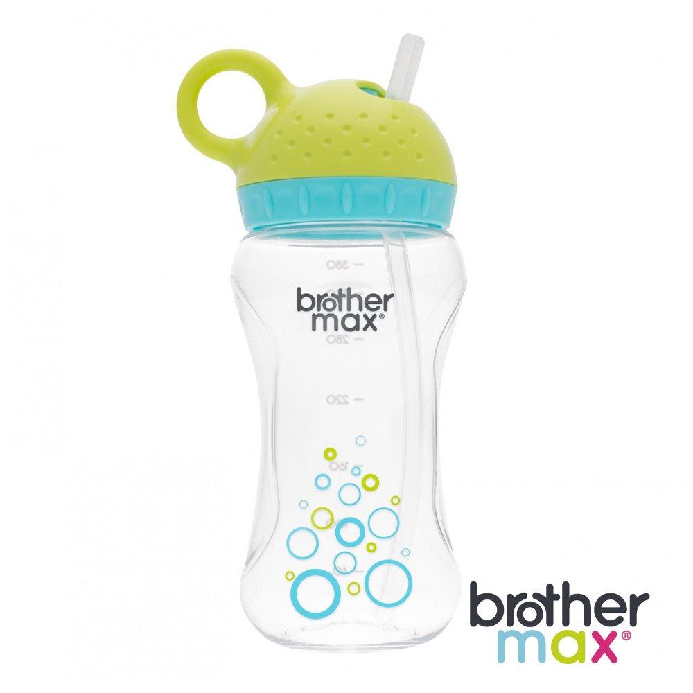 英國Brother Max繽紛拉環旋轉吸管水壺, 藍綠色