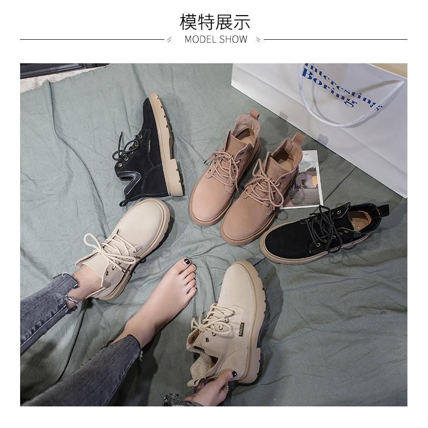 一件免運 chic馬丁靴女 秋季 2018新款英倫風 學生韓版百搭短靴ins網紅切爾西靴