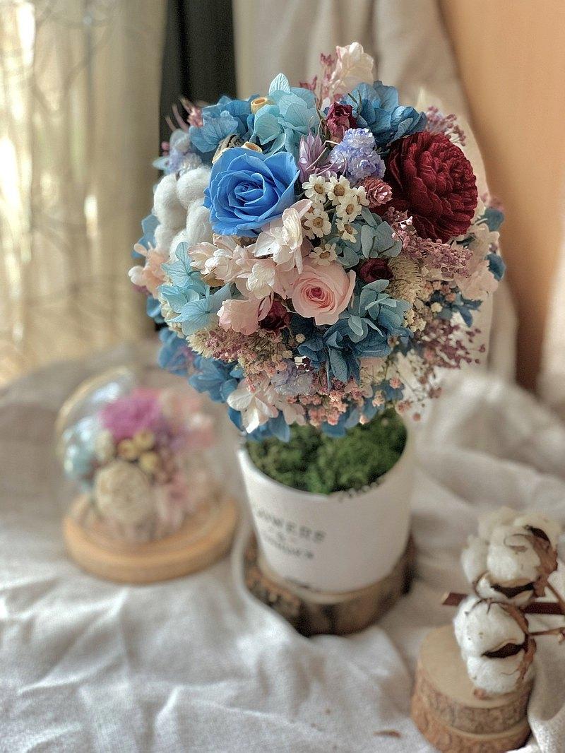仲夏豐收花球樹 不凋花 永生花 乾燥花 索拉花 居家裝飾 商業陳列