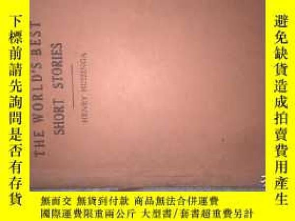二手書博民逛書店罕見精選英文短篇小說一一英文版Y204153 出版1924