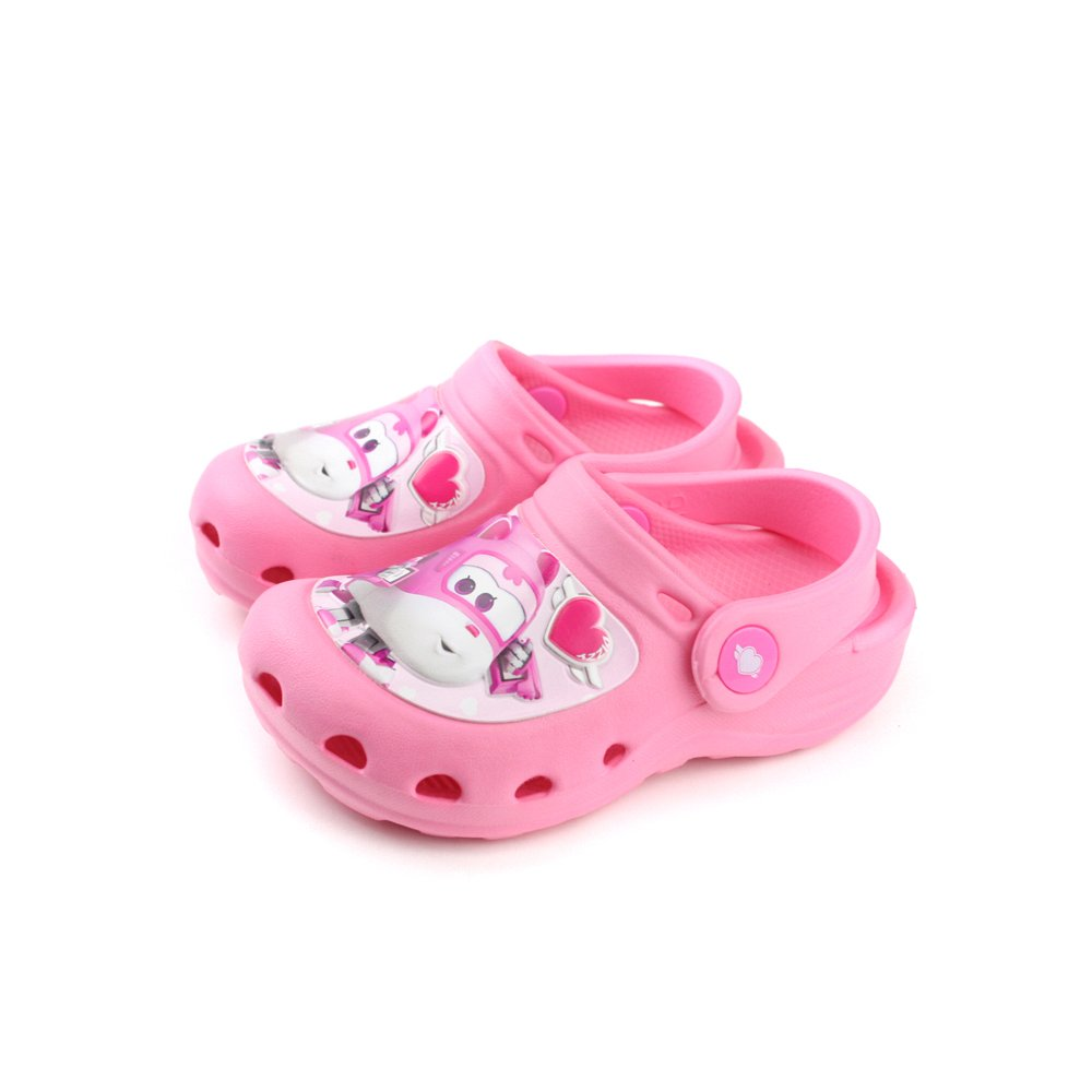 SUPER WINGS  戶外休閒鞋 粉紅色 中童 no916