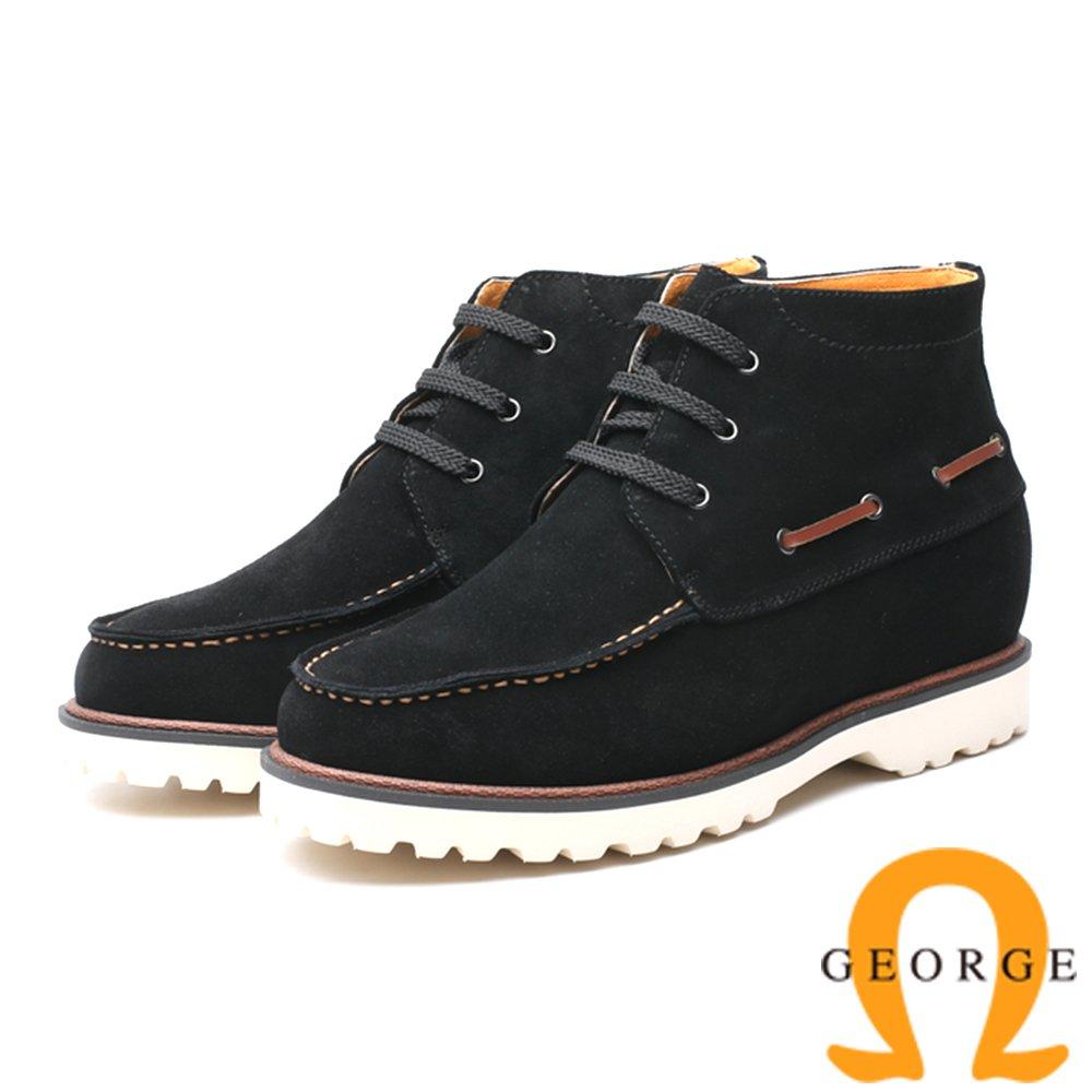 GEORGE 喬治-內增高系列 抽繩高筒休閒鞋-咖818008YS-20