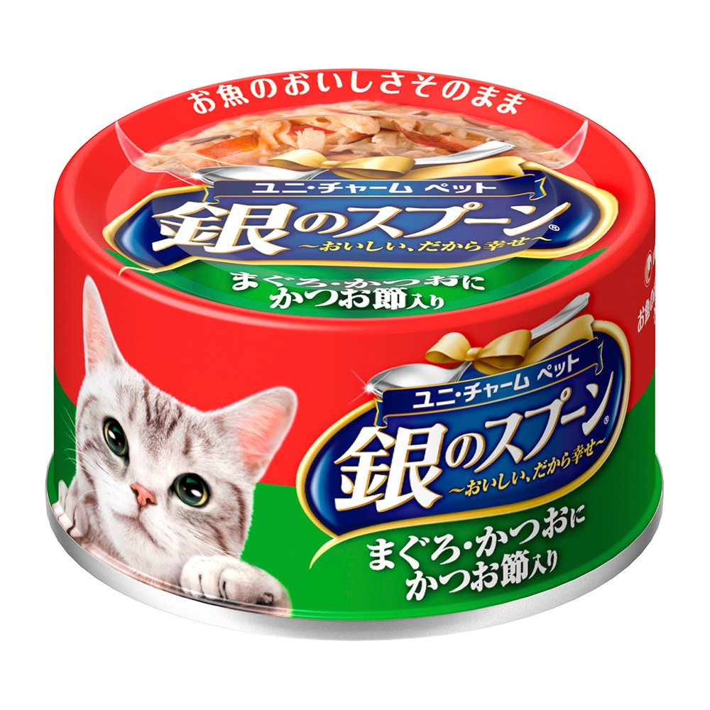 銀湯匙 鮪魚+鰹魚+柴魚片罐頭(70g x 24罐)
