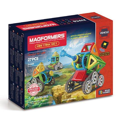 【Magformers 磁性建構片】Neon迷你坦克 27pcs ACT06147