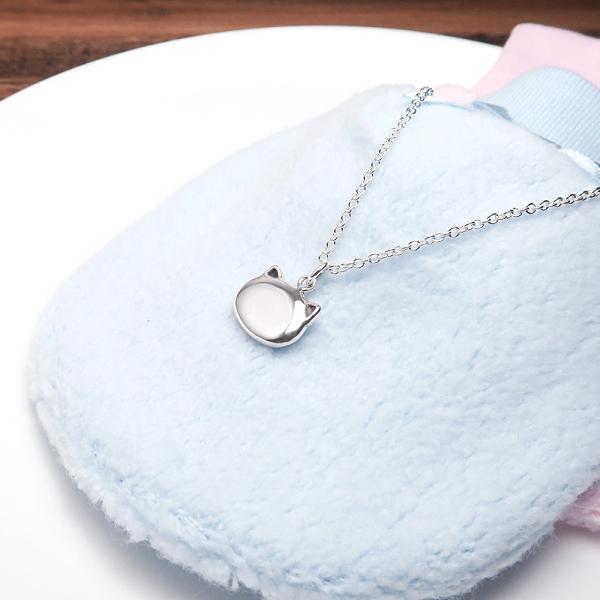 淘氣小貓 親子項鍊 (14+2吋) 925純銀客製化訂製項鍊