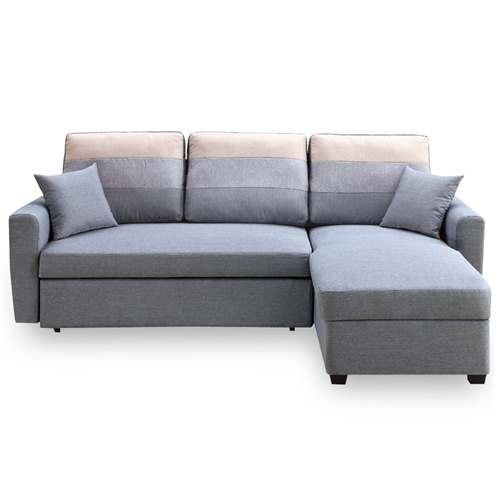 【時尚屋】[MT7]丹尼絲灰色小L布沙發床組MT7-324-3免組裝/免運費/