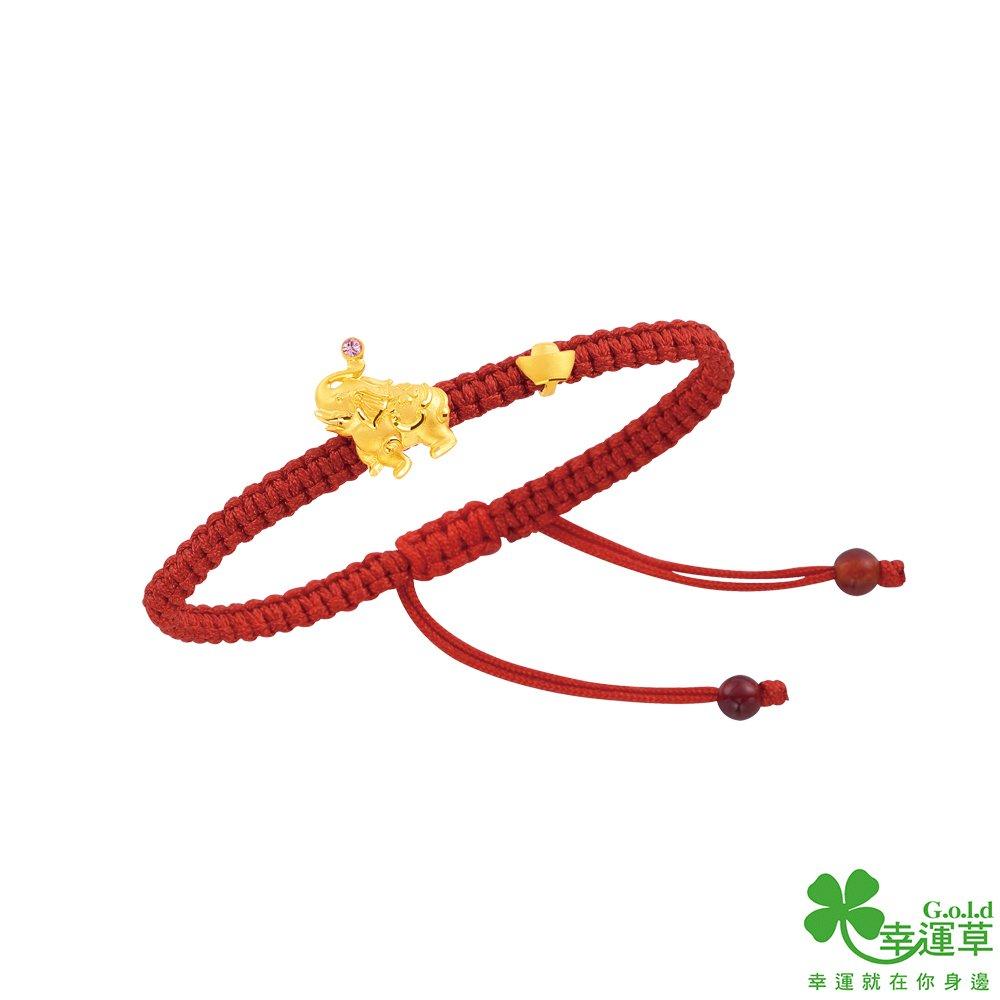 幸運草 萬象更新黃金/水晶中國繩手鍊
