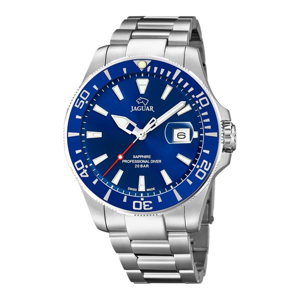 瑞士JAGUAR | 經典銀款潛水錶Executive (藍面) - J860/3