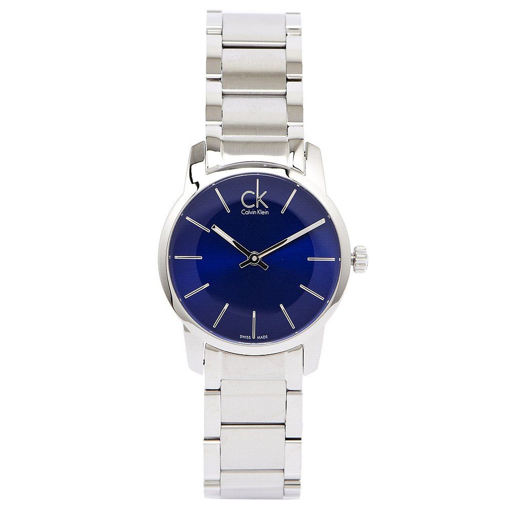 Calvin Klein CK City 經典極簡風沁藍色手錶飾品(K2G2314N)-藍面X銀色/32mm