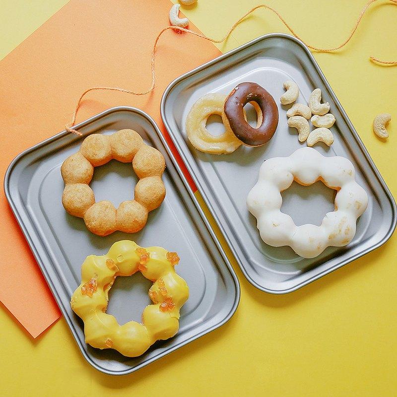 【新年推薦】純鈦小方盤2入組 抗菌多功能 烤盤 小砧板 蒸盤