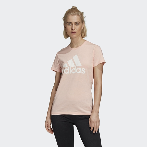 Adidas W BOS CO女款粉色短袖上衣-NO.GC6948