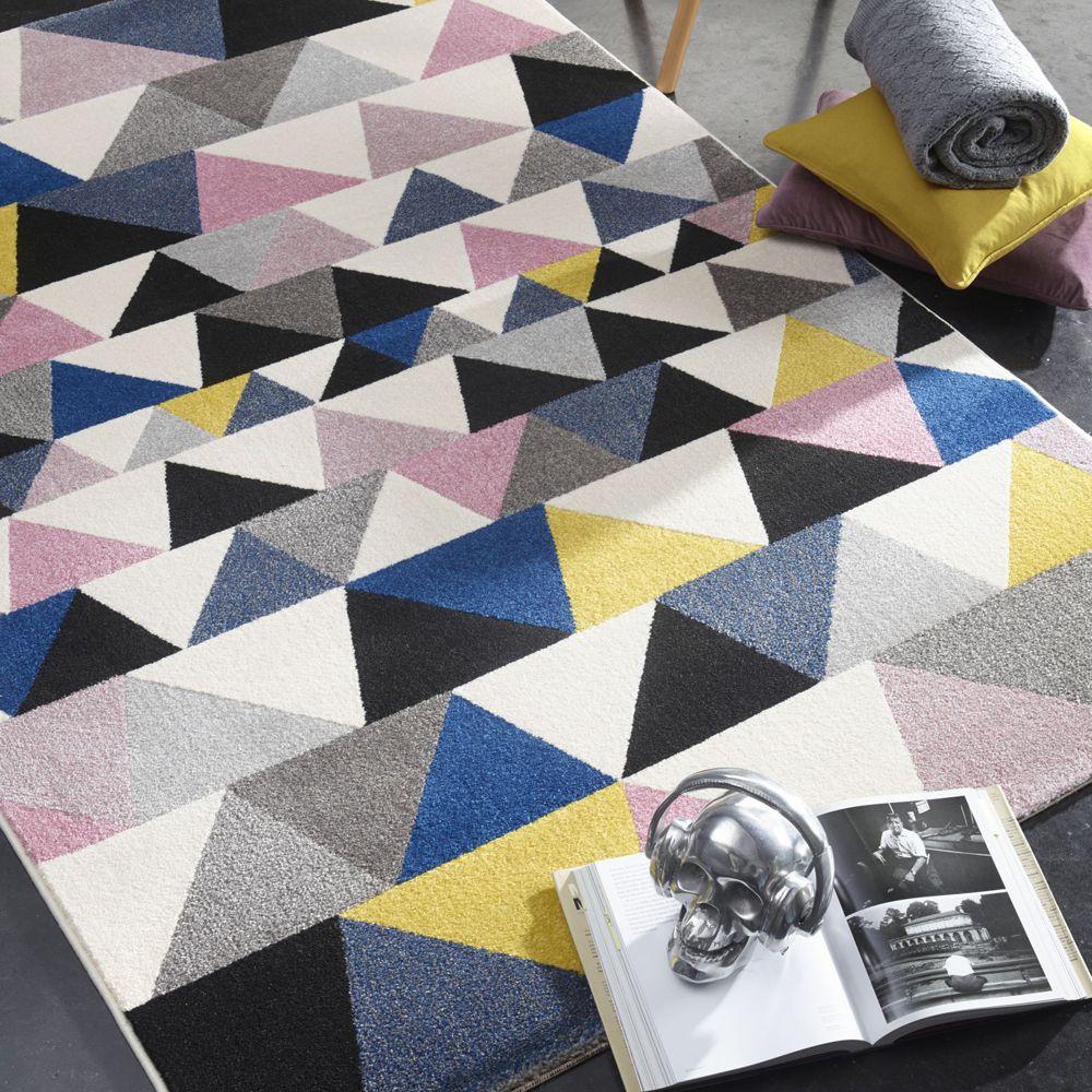【范登伯格】幾何風格區塊地毯-彩三角160x230cm