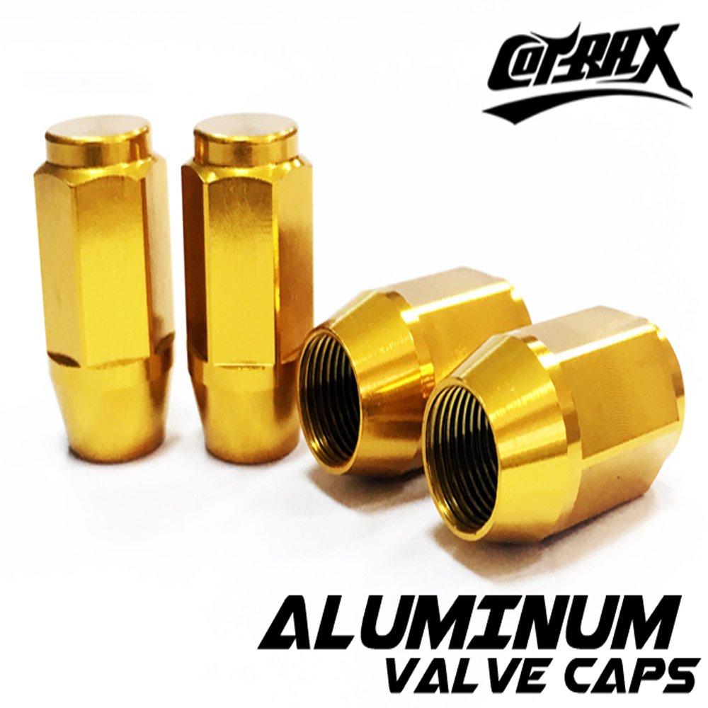 【Cotrax】鋁合金氣嘴蓋-輪框螺絲型(金色)