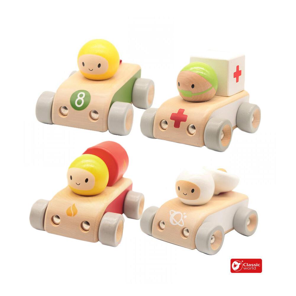 德國 classic world 客來喜經典木玩萌趣造型車