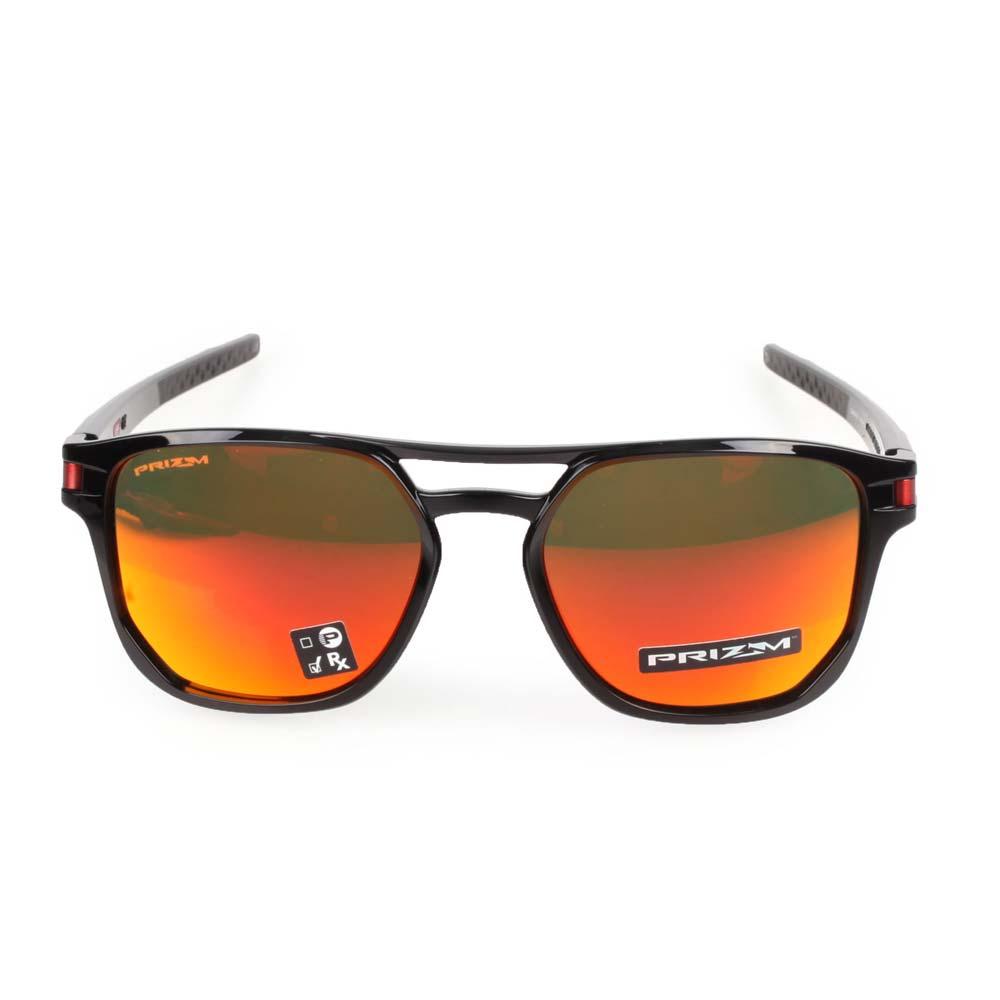 OAKLEY LATCH BETA 一般太陽眼鏡-附鏡袋無鼻墊  抗UV 登山 黑紅 F