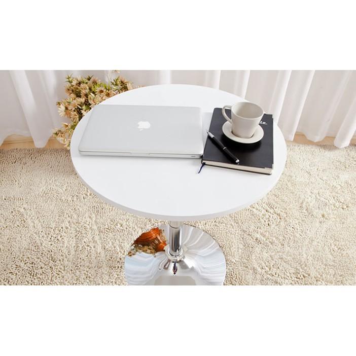 簡約吧桌升降高脚餐桌咖啡小圓桌家用飯桌吧台桌椅歐式酒吧桌子 - 直徑60固定高度76cm-白色圓桌