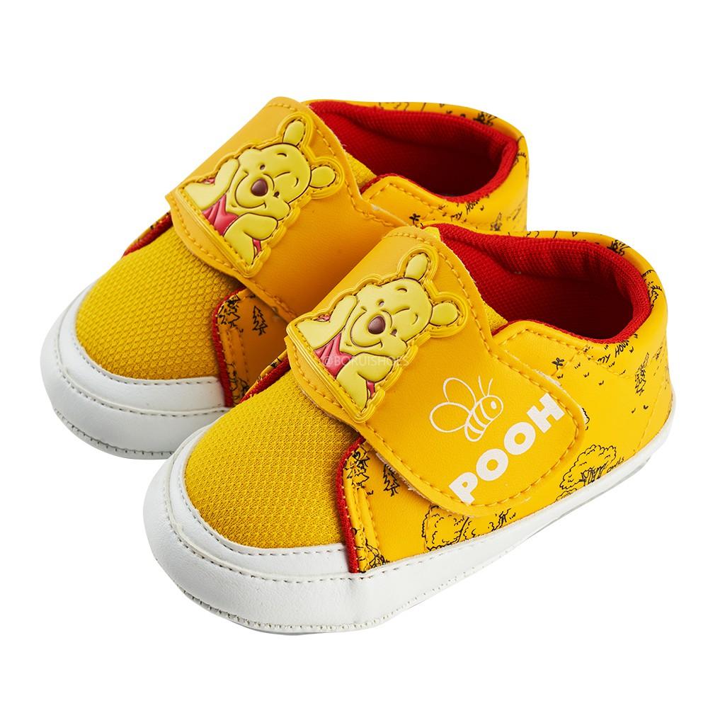 迪士尼童鞋 小熊維尼 造型休閒小童學步鞋-黃