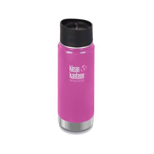 【Klean Kanteen】16oz不鏽鋼寬口咖啡蓋保溫瓶-蘭花粉