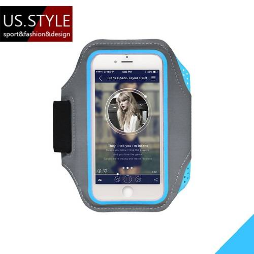 【US.STYLE】4.7吋戶外運動手機臂套-星際時尚款(深邃藍)