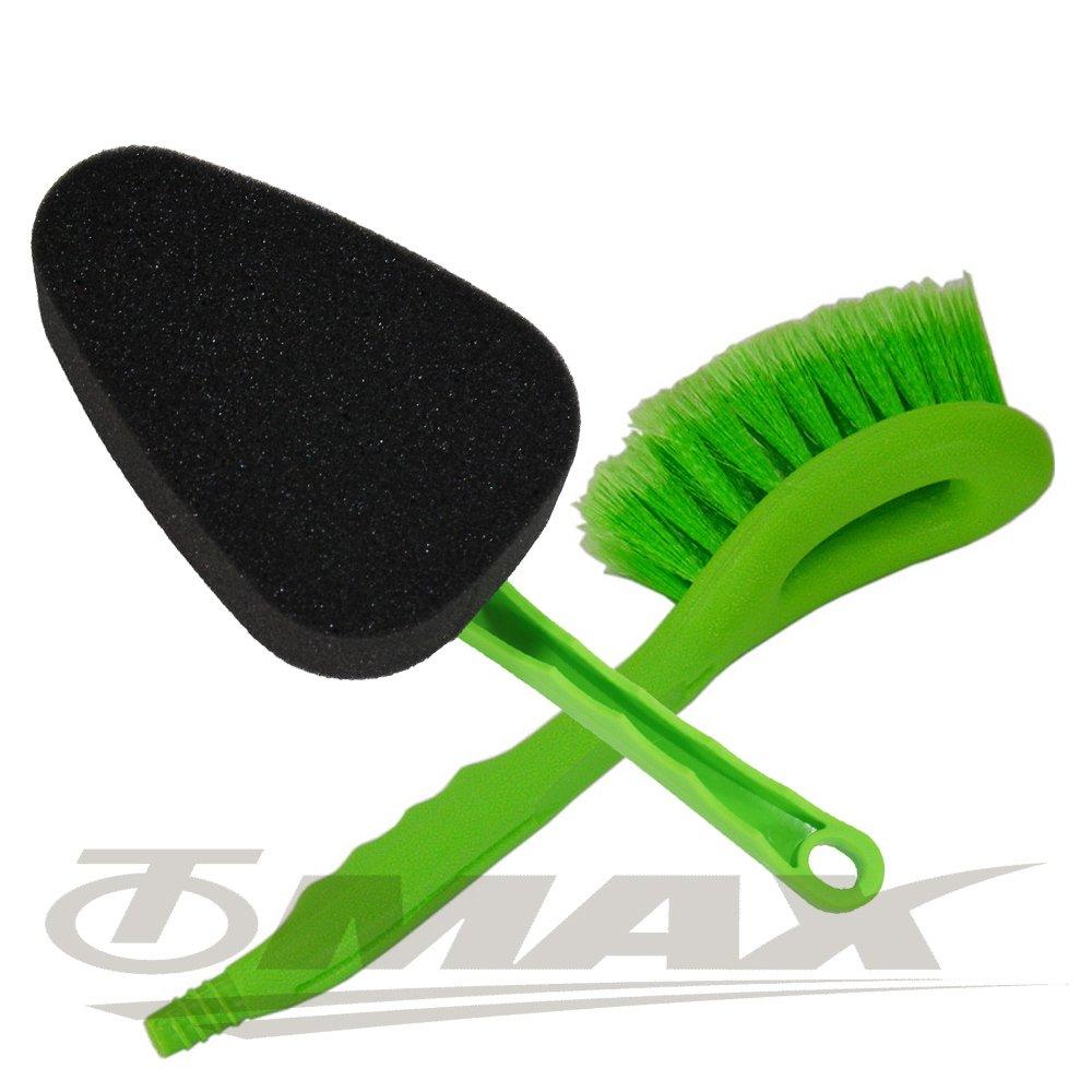 OMAX強效洗車刷+海綿清潔洗車刷