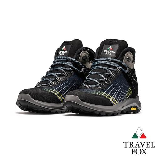 TRAVEL FOX(女) 你的極限 VIBRAM大底防水抗寒專業進口戶外高筒登山鞋 - 流星黑黃