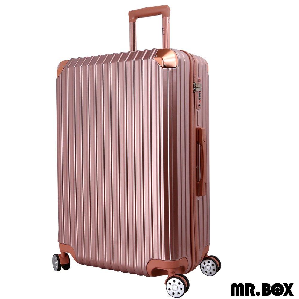 【MR.BOX】艾夏 28吋PC+ABS耐撞TSA海關鎖拉鏈行李箱/旅行箱(玫瑰金)