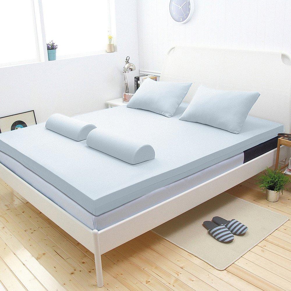 【輕鬆睡-EzTek】新雙層竹炭釋壓記憶床墊(單人9cm波浪面)