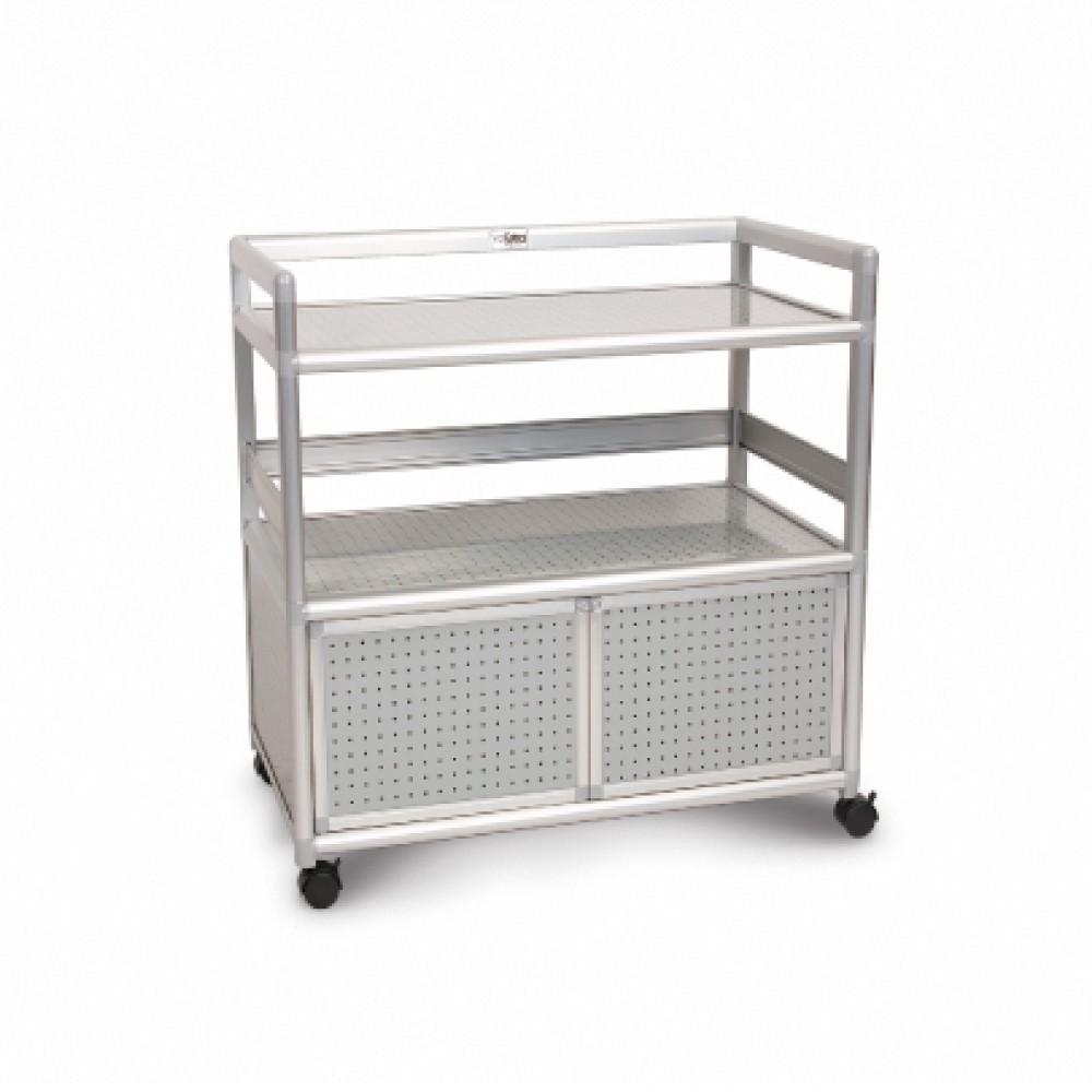 as-黑花格得意2.5尺鋁合金餐櫃-73.5x50.8x83.6cm