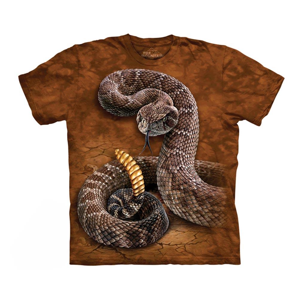 【摩達客】(預購)美國進口The Mountain 響尾蛇 純棉環保短袖T恤