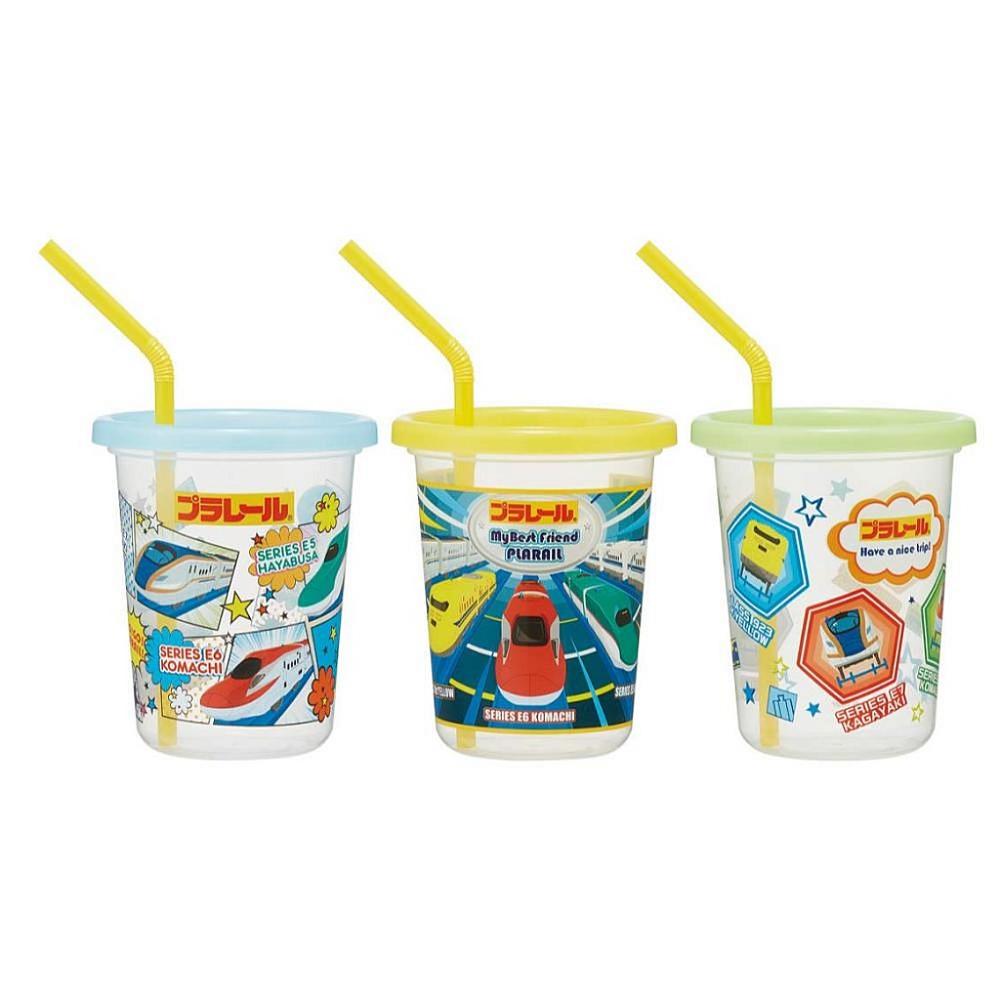日本製 鐵道王國 plarail 兒童水杯 附蓋3入吸管杯(sih3st/320ml)
