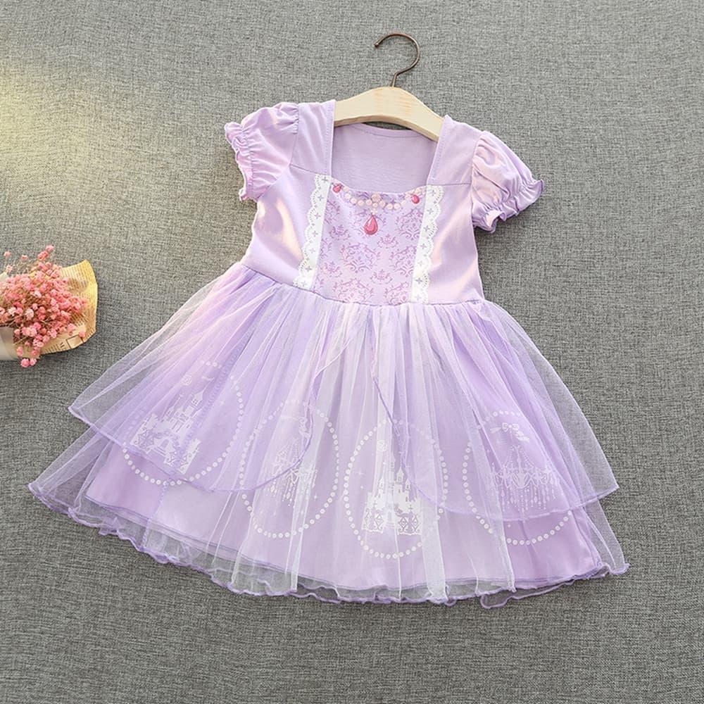 [Kori Deer 可莉鹿] 蘇菲亞公主洋裝 女嬰女童萬聖節變裝輕便版 派對造型攝影寫真