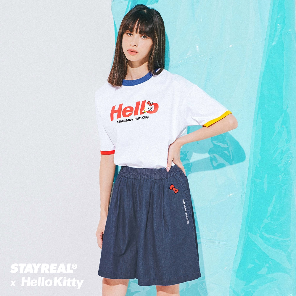 STAYREAL x HELLO KITTY 凱蒂丹寧褲裙