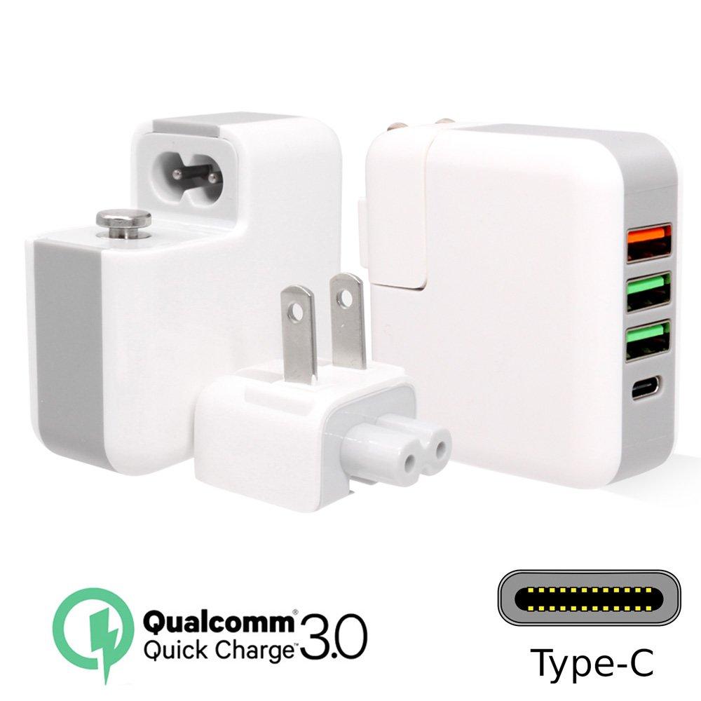 QC3.0快充+Type-C 4孔輸出 USB充電器