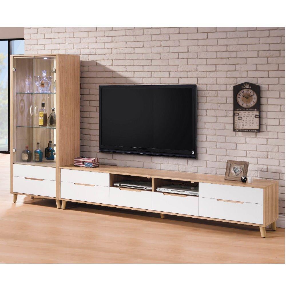 結帳再折【MUNA】肯詩特烤白雙色9尺L型電視櫃