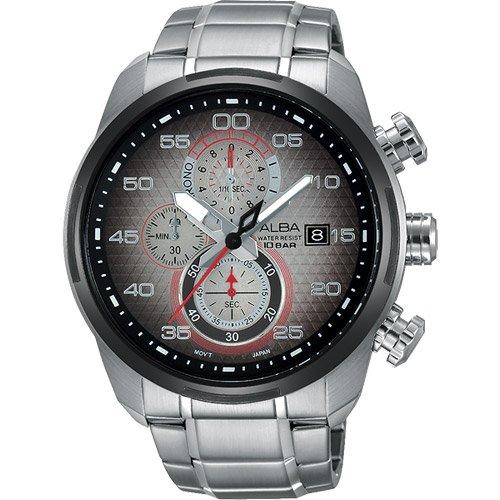 ALBA 雅柏 SignA 星際巡航計時腕錶-金屬色漸層/45mm VD57-X066D(AM3267X1)