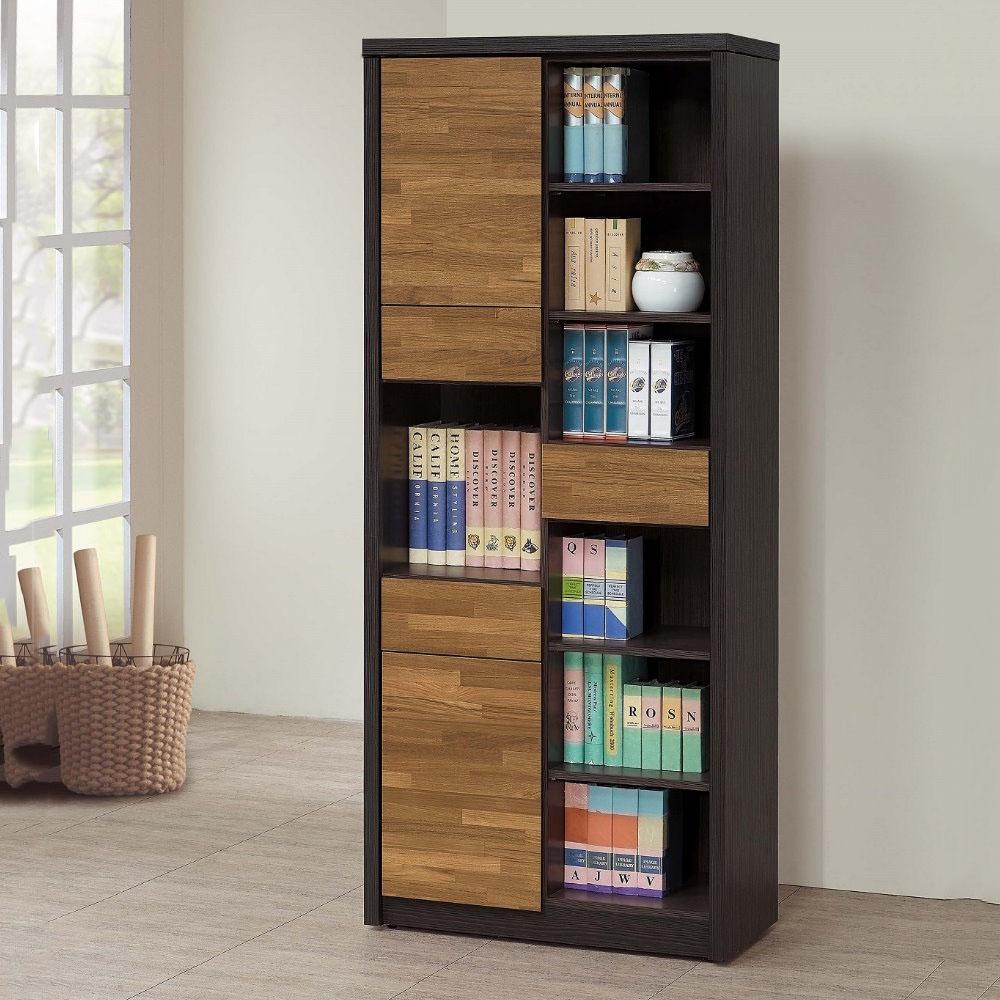 【MUNA】雙色積層木2.7尺書櫥/書櫃(811左)
